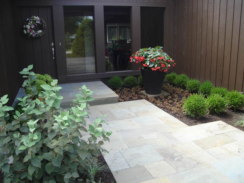 Shaded bluestone entryway sprout landscape garden design for Garden design quiz