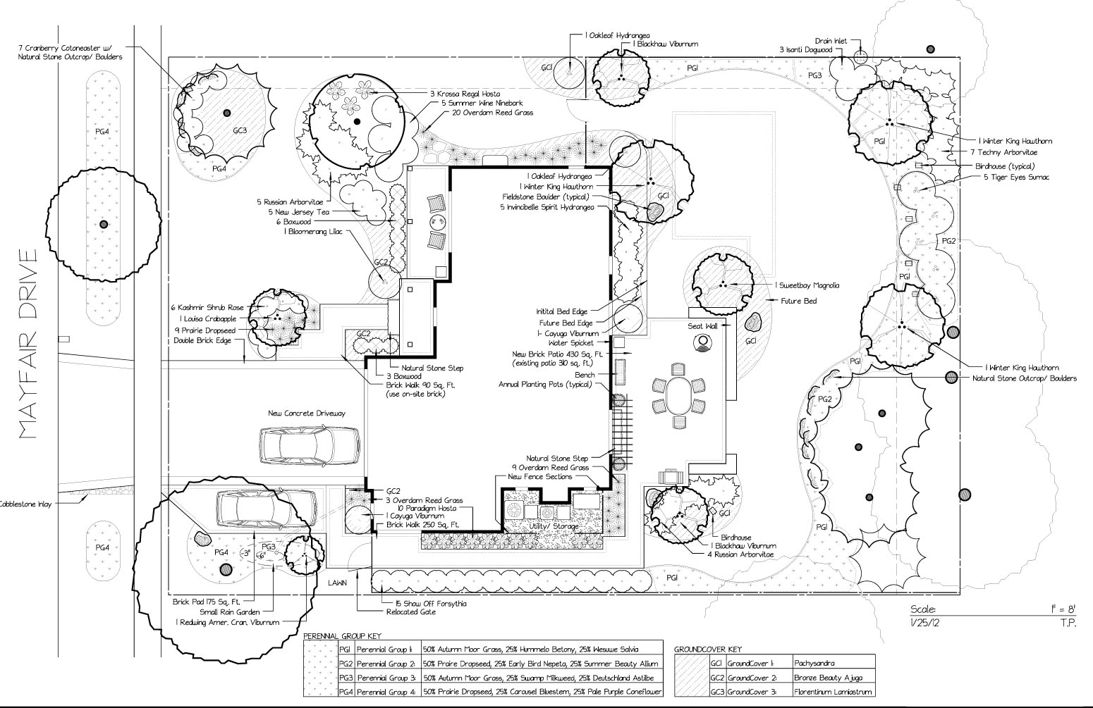 Landscape design services sprout landscape garden design for Landscape blueprints