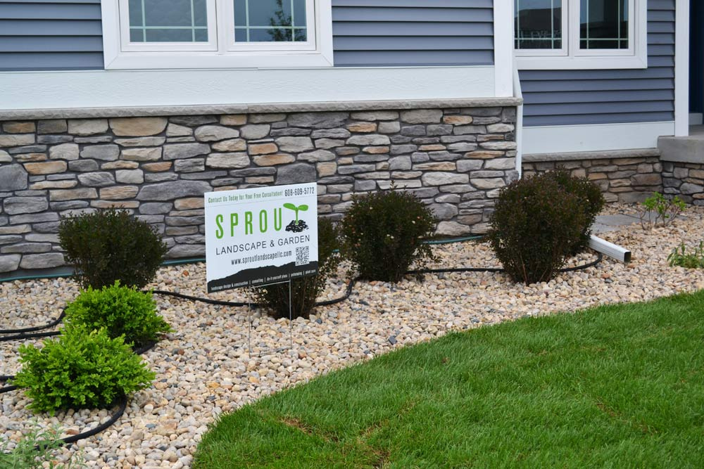Sprout Landscape & Gardens showcasing the 2014 Madison Parade of Homes